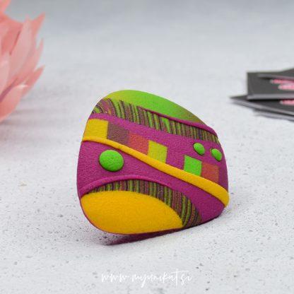 P400-Unikaten-prstan-Myunikat-tjasavodeb-fimomasa-rumen-roza-zelen