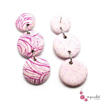 Unikatni uhani Myunikat_pastelno-roza-pink