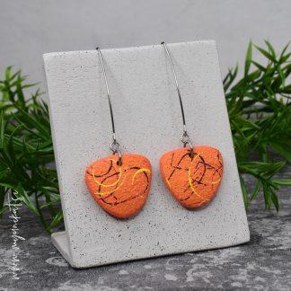 Unikatni-nakit-rocno-izdelani-uhani-myunikat-TjasaVodeb-oranzna