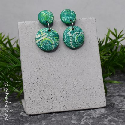 rocno-izdelani-uhani-unikatni-nakit-myunikat-TjasaVodeb-abstrakt-zelena