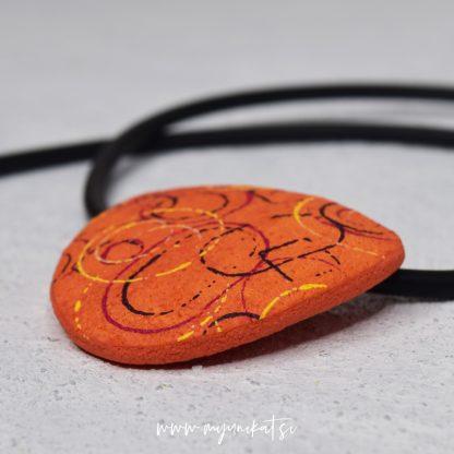 unikatna-verizica-unikatni-nakit-myunikat-abstrakt-oranzna