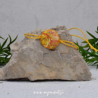 Z14-unikatna-zapestnica-myunikat-abstrakt-rumena-oranzna