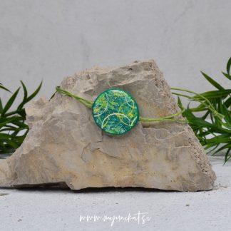Z20-unikatna-zapestnica-myunikat-abstrakt-zelena-rumena