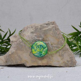 Z22-unikatna-zapestnica-myunikat-abstrakt-zelena-rumena