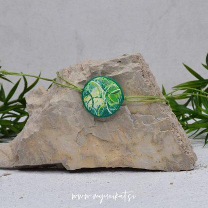 Z23-unikatna-zapestnica-myunikat-abstrakt-zelena-rumena