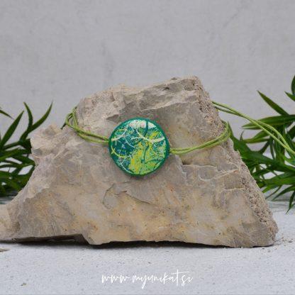 Z26-unikatna-zapestnica-myunikat-abstrakt-zelena-rumena