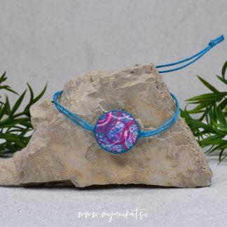 Z32-unikatna-zapestnica-myunikat-modra-roza