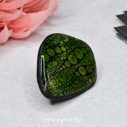 P487_rocno-izdelan-unikatni-prstan-Myunikat_TjasaVodeb-fimo-zelena