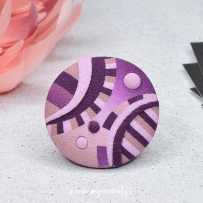 P494_rocno-izdelan-unikatni-prstan-Myunikat_TjasaVodeb-fimo-viola-roza