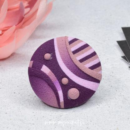 P495_rocno-izdelan-unikatni-prstan-Myunikat_TjasaVodeb-fimo-viola-roza